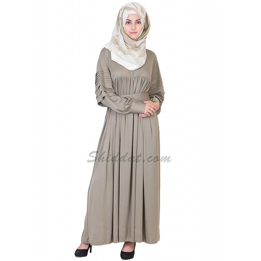 Abaya- Bright Gray Colored