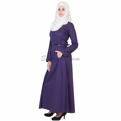 Abaya- Purple colored