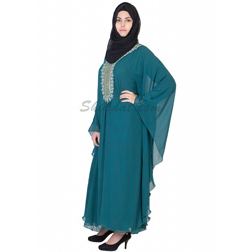 Kaftan- exclusive classic green colored