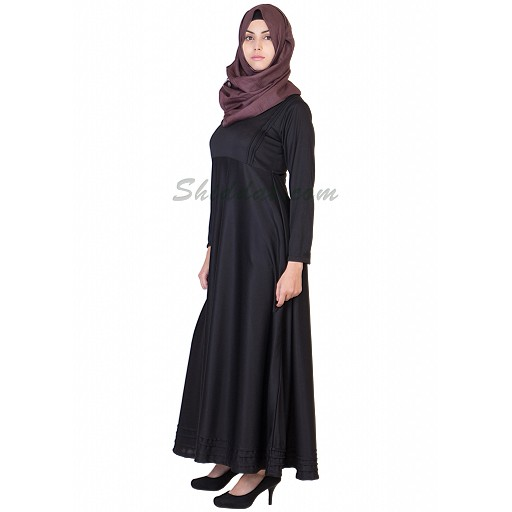 Abaya- Full flaired black colored