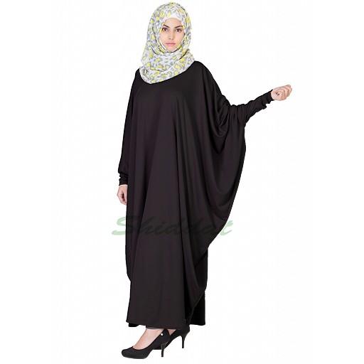 Kaftan abaya in black color