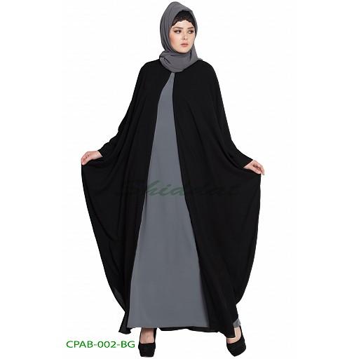 Kaftan style free size Cape with inner abaya