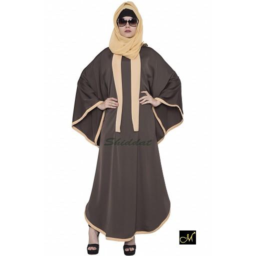 Kaftan Abaya- Brown-Biege