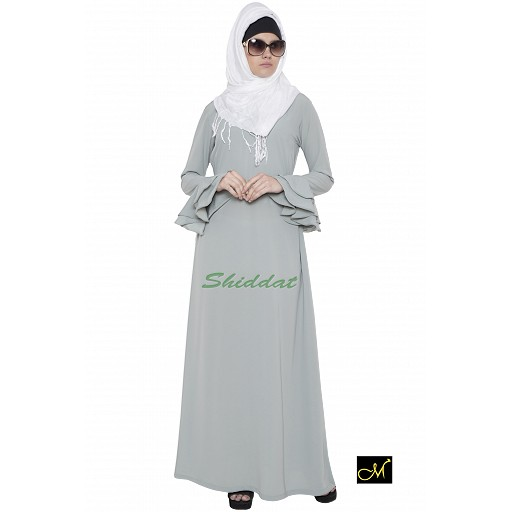 Islamic maxi dress - Abaya in Sea green color