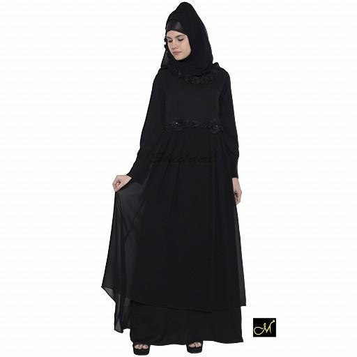Designer abaya for women- Black
