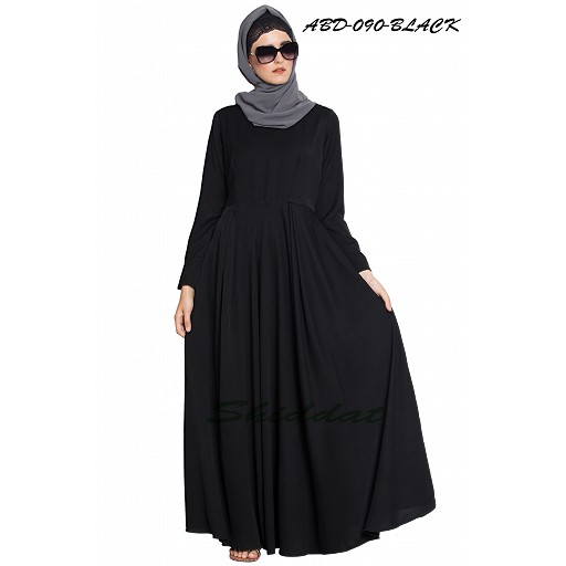 Black simple umbrella abaya
