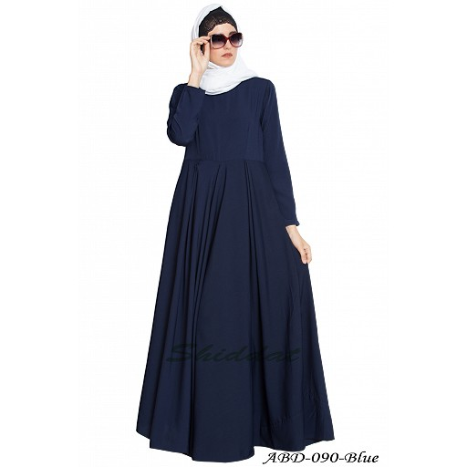 Simple umbrella abaya- Navy blue