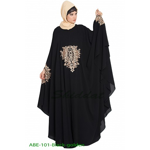 Irani kaftan with embroidery work-Golden