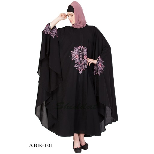 Irani kaftan with embroidery work- Black