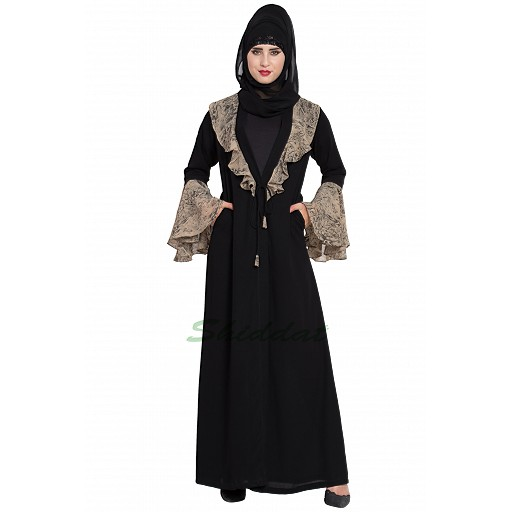 Cardigan abaya with snake print
