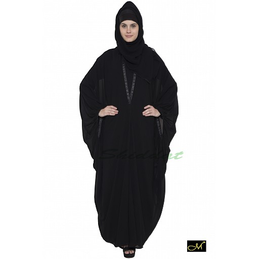 Designer Kaftan abaya- Black color