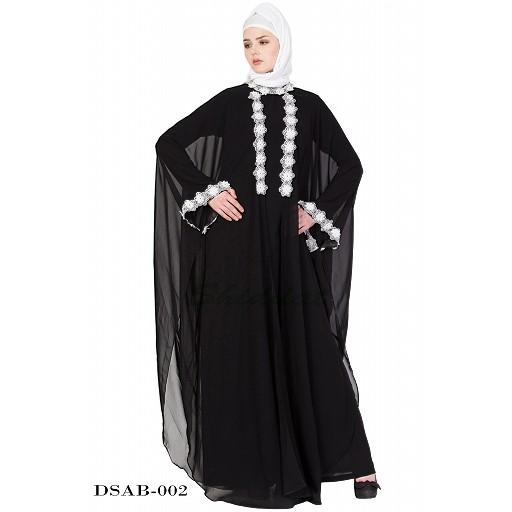 Designer kaftan abaya - Black Lacey maxi dress