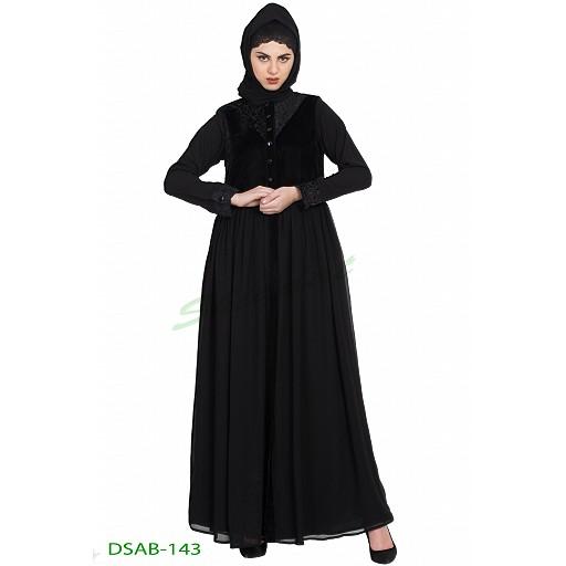 Designer bridal abaya- black color