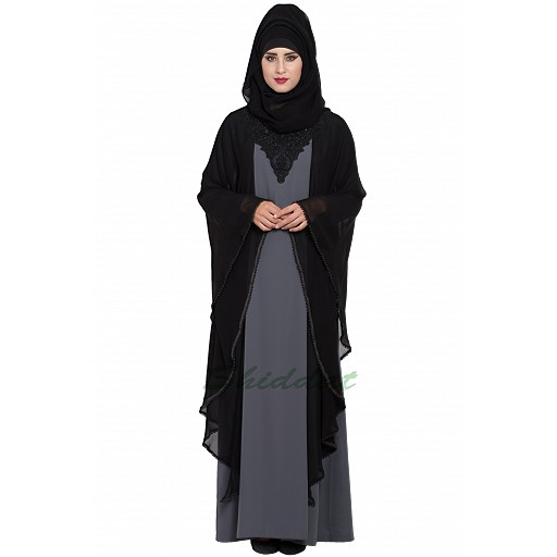 Dubai style Designer abaya with Pearl lacework