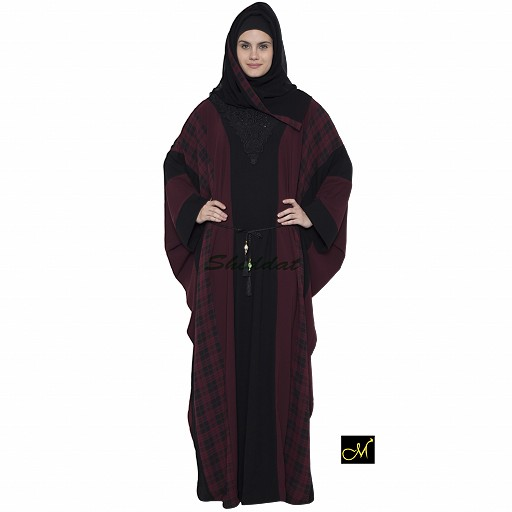 Kaftan Burqa - Black and Maroon