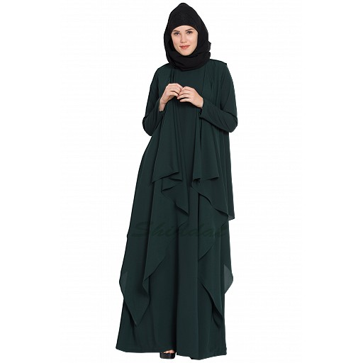 Shrug abaya- dark green